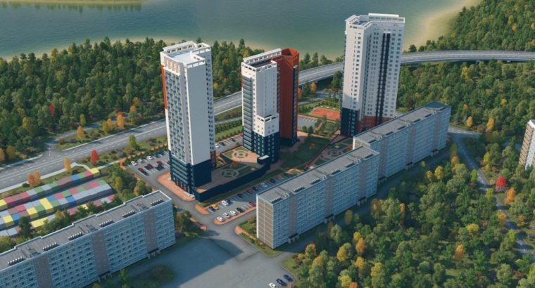 В Хабаровске возобновились работы на третьем доме из трёх, входящих в жилищный комплекс «Пионерский»