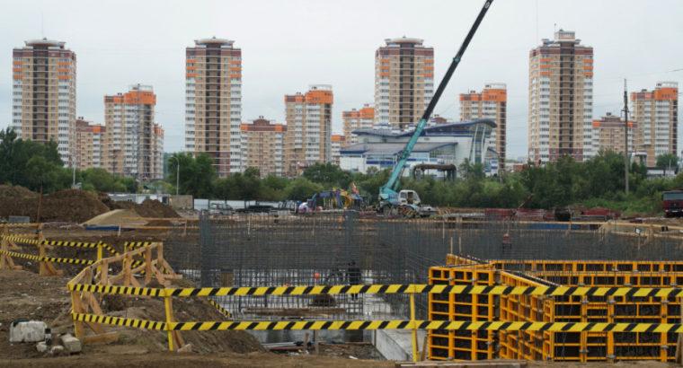 В микрорайоне «Ореховая сопка» развивают инфраструктуру для новых жилых домов.