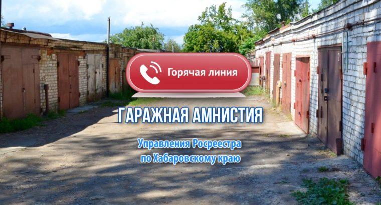 Жителям Хабаровского края расскажут о «гаражной амнистии»  по телефону.