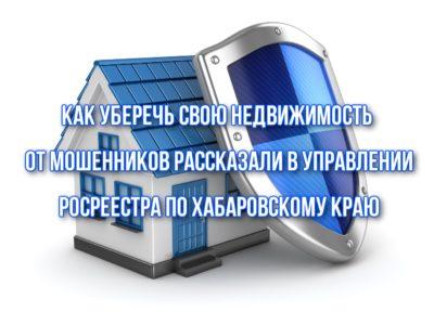Как уберечь свою недвижимость от мошенников рассказали в Управлении Росреестра по Хабаровскому краю.